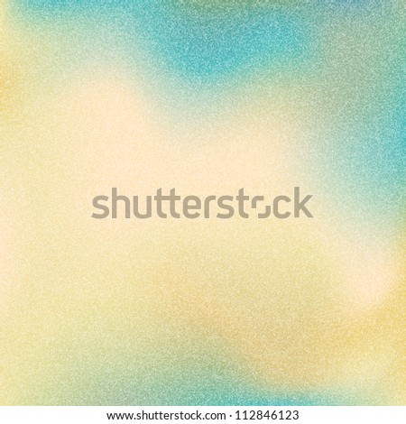 Old grainy texture with noise effect. Vintage yellow, blue and green color background. Blank abstract backdrop with space for text. This vector illustration clip-art design element 10 eps. - stock vector