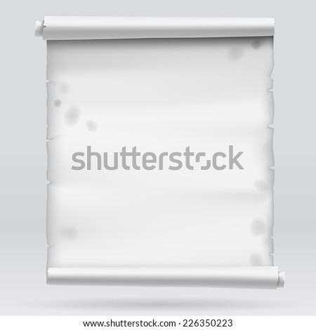 Old gray parchment. Vector illustration - stock vector