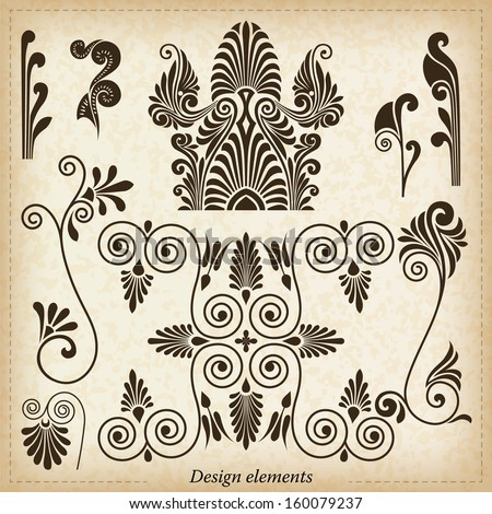Old greek ornaments. Vector illustration. - stock vector