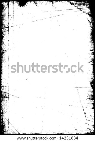 Old grunge - style vector shabby scratched frame - stock vector