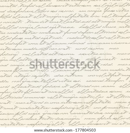 Old grungy letter vector - stock vector