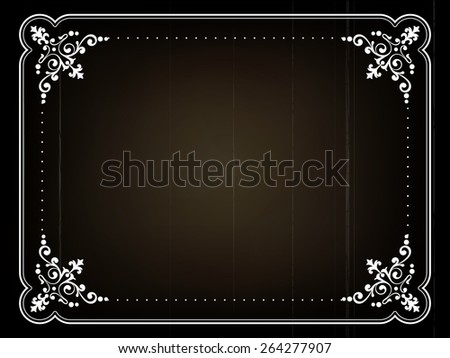 Old movie title frame - stock vector