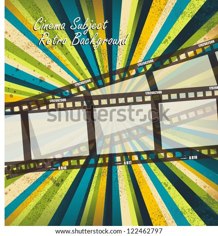 Old negative film strip - stock vector