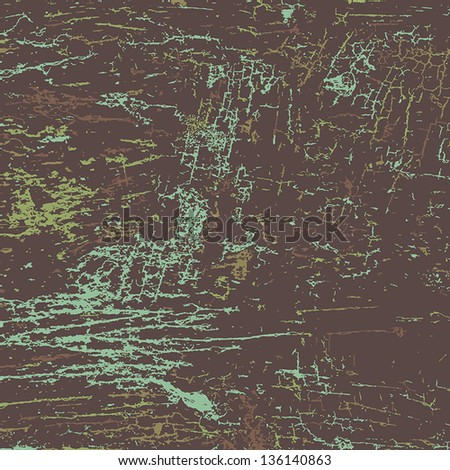 Old painted background with cracks. EPS10 vector. - stock vector