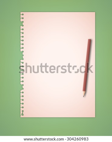 Old Paper on Green Background Vector - stock vector