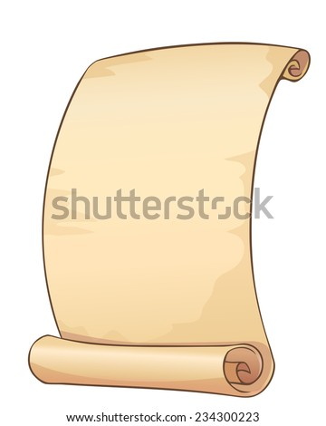 Old paper scroll. Vector illustration isolated on white - stock vector