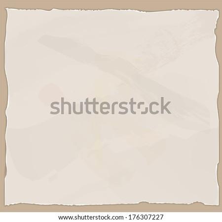 Old paper sheet in vector - stock vector
