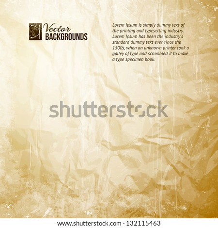 Old Paper Texture. Vector illustration, contains transparencies, gradients and effects. - stock vector