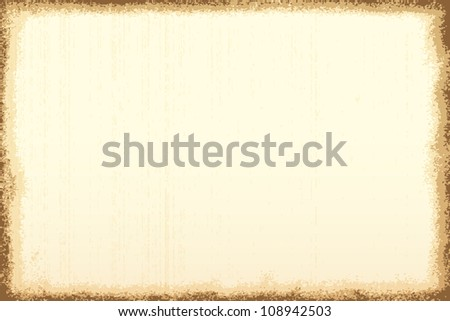 Old paper vector background - stock vector
