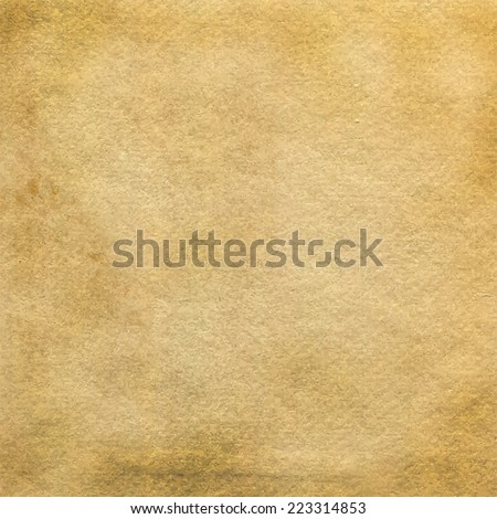 Old paper vector background. Grunge paper texture for your design. - stock vector