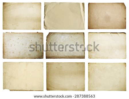 old papers set isolated, vector - stock vector