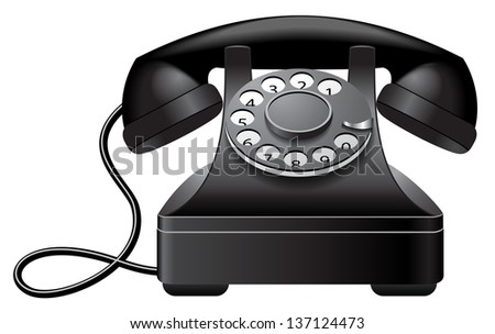 Old Phone - stock vector