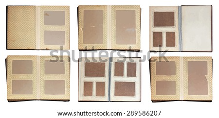old photo albums set, vector - stock vector