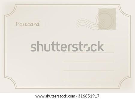 Old postcard.Vintage postcard.Vector illustration. - stock vector