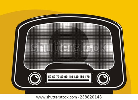 Old radio - stock vector