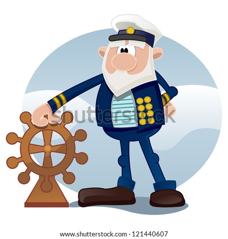 Old sailor - stock vector