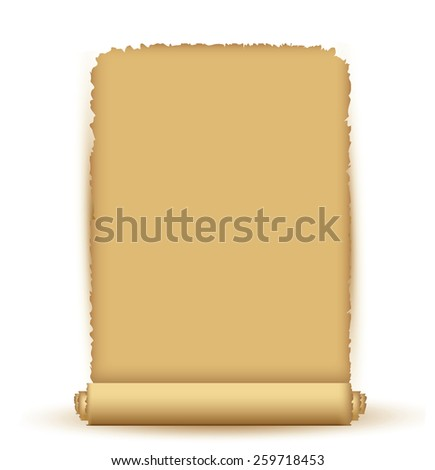 Old scroll  - stock vector