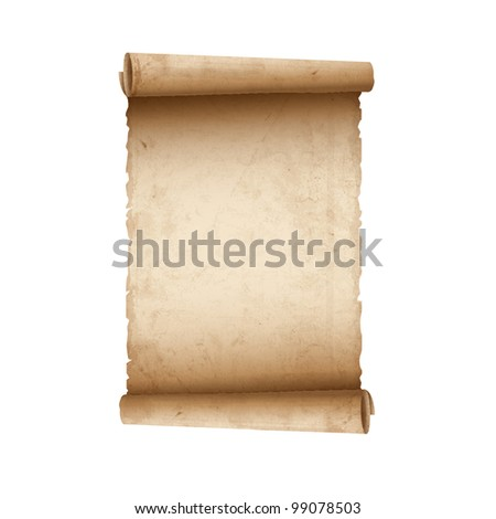 Old Scroll paper.Vector eps10 - stock vector