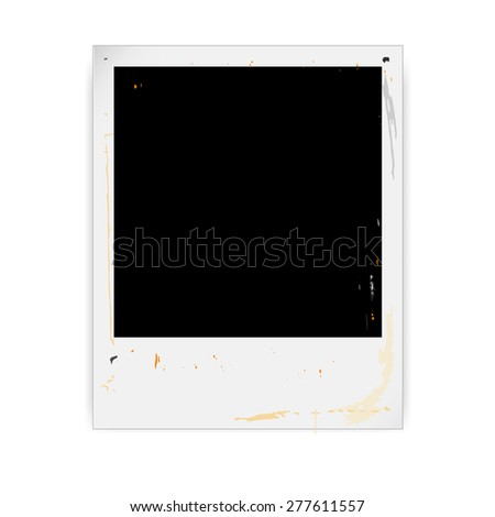 Old style vintage photo frame vector illustration - stock vector