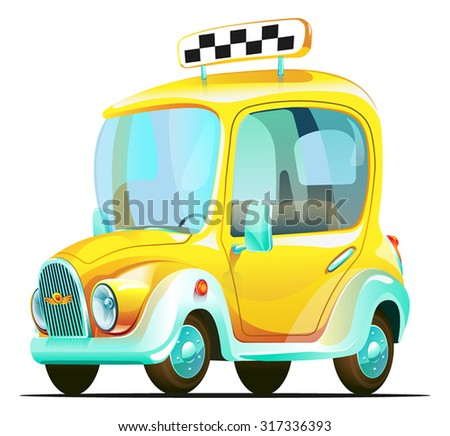 Old taxi - stock vector