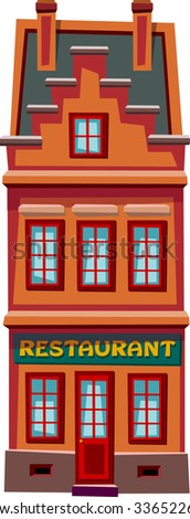 Old town house - stock vector