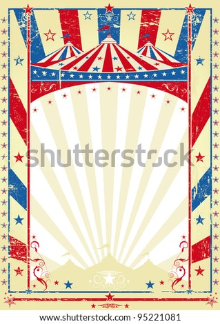 old tricolor poster big top. a circus vintage poster for your advertising - stock vector