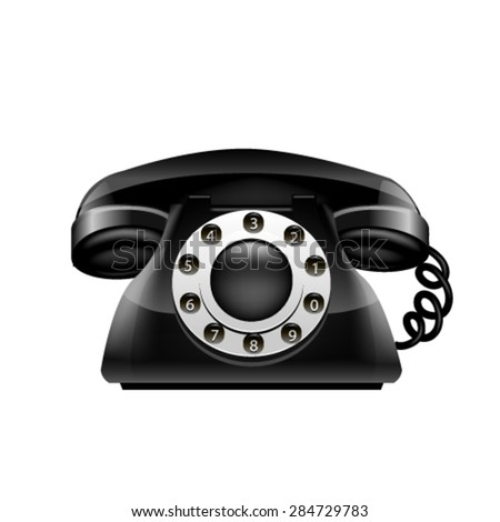 Old vector phone. - stock vector