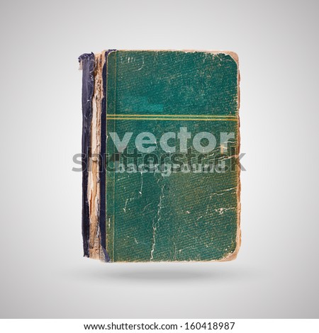old vintage book isolated, vector background - stock vector