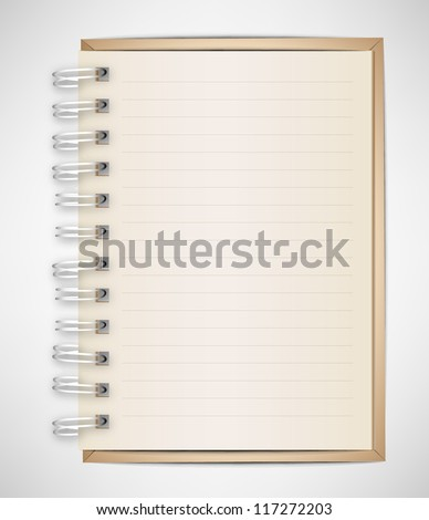 Old Vintage Notebook Vector - stock vector