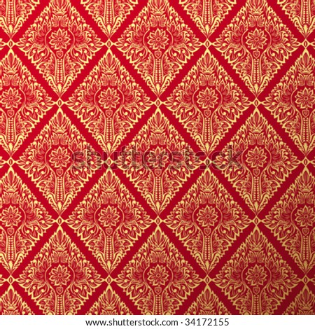 old wallpaper background - stock vector