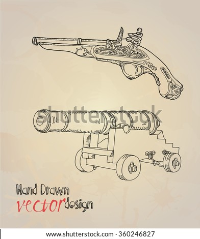 old weapons  - stock vector