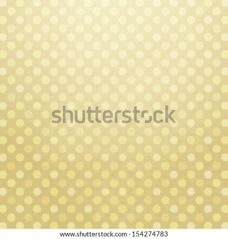Old yellow spotted paper with translucent polka dots (vector EPS 10) - stock vector