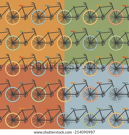 Oldschool style bycicle vector illustration - stock vector