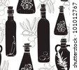 Olive oil pattern - stock vector