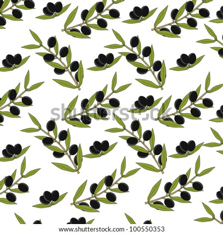 Olive Seamless Background - stock vector