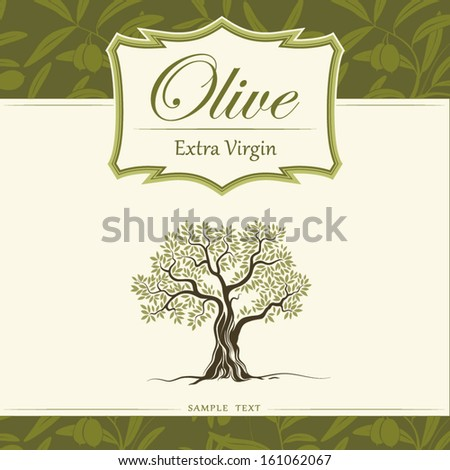 Olive tree. Olive oil. Vector  olive tree. For labels, pack. - stock vector