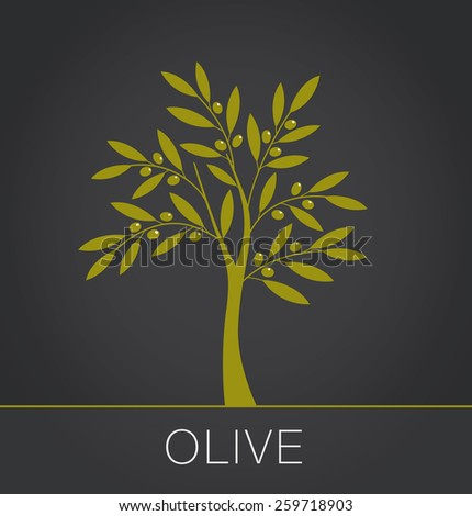 Olive tree. Vector illustration - stock vector