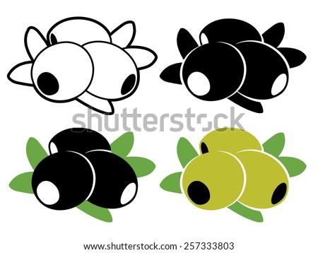 Olives logo set - stock vector