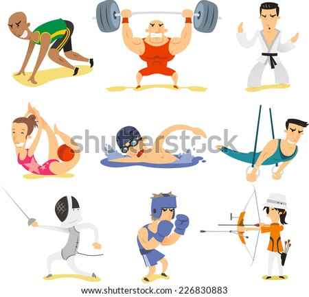 Olympic sports illustrations  - stock vector
