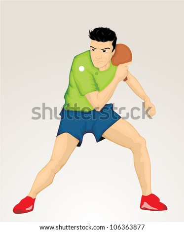 Olympic sports: Table tennis - stock vector
