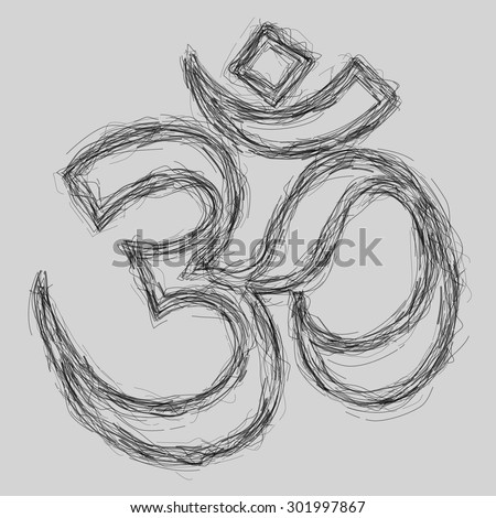Om Sign Sketch (EPS10 Vector) - stock vector