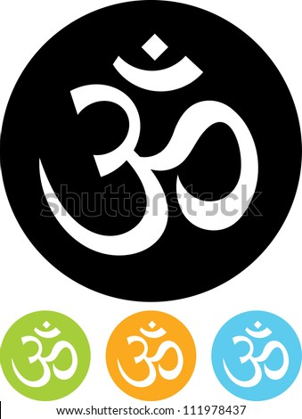 Om sign - Vector icon isolated - stock vector