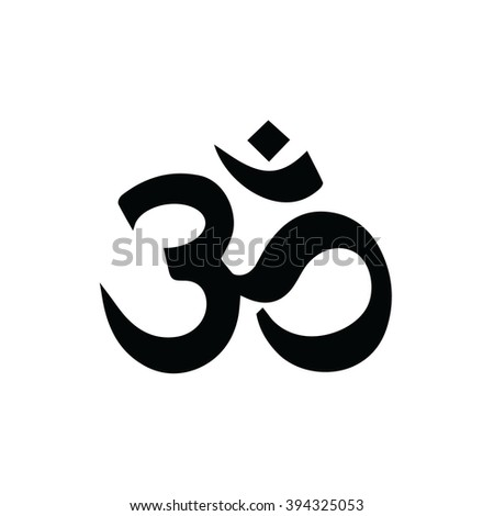 Om symbol of Hinduism vector icon - stock vector
