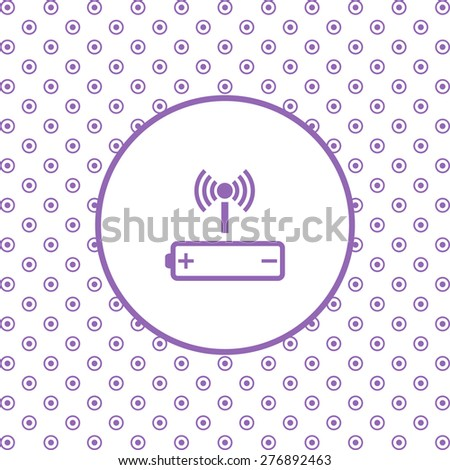 On a white background pink circles. power management through a wi-fi network. icon. vector design - stock vector