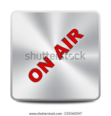 On Air icon / button - stock vector