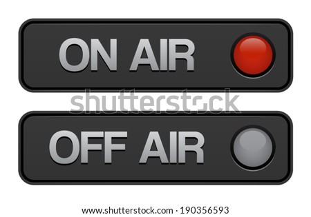 On Air Off Air Buttons  - stock vector