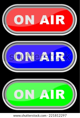 ON AIR, SIGNS SYMBOLS, VECTOR - stock vector