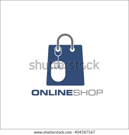 on line shop - stock vector