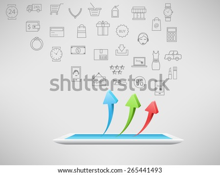 On line shopping - stock vector