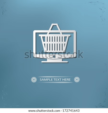 on line shopping symbol,vector - stock vector